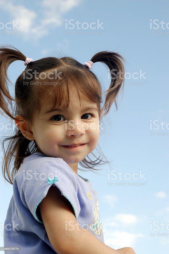 Sky Girl stock photo