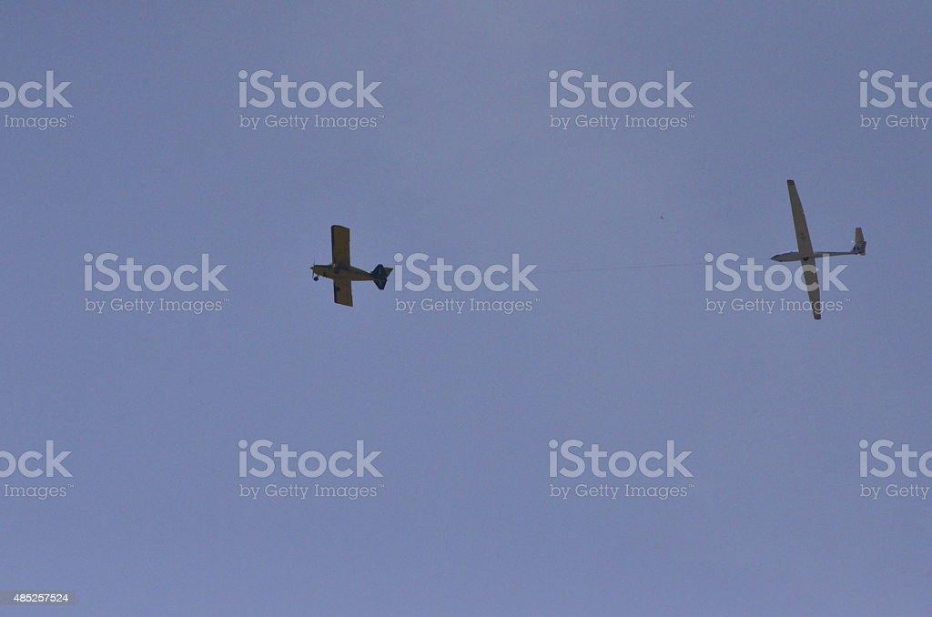 sky glider stock photo
