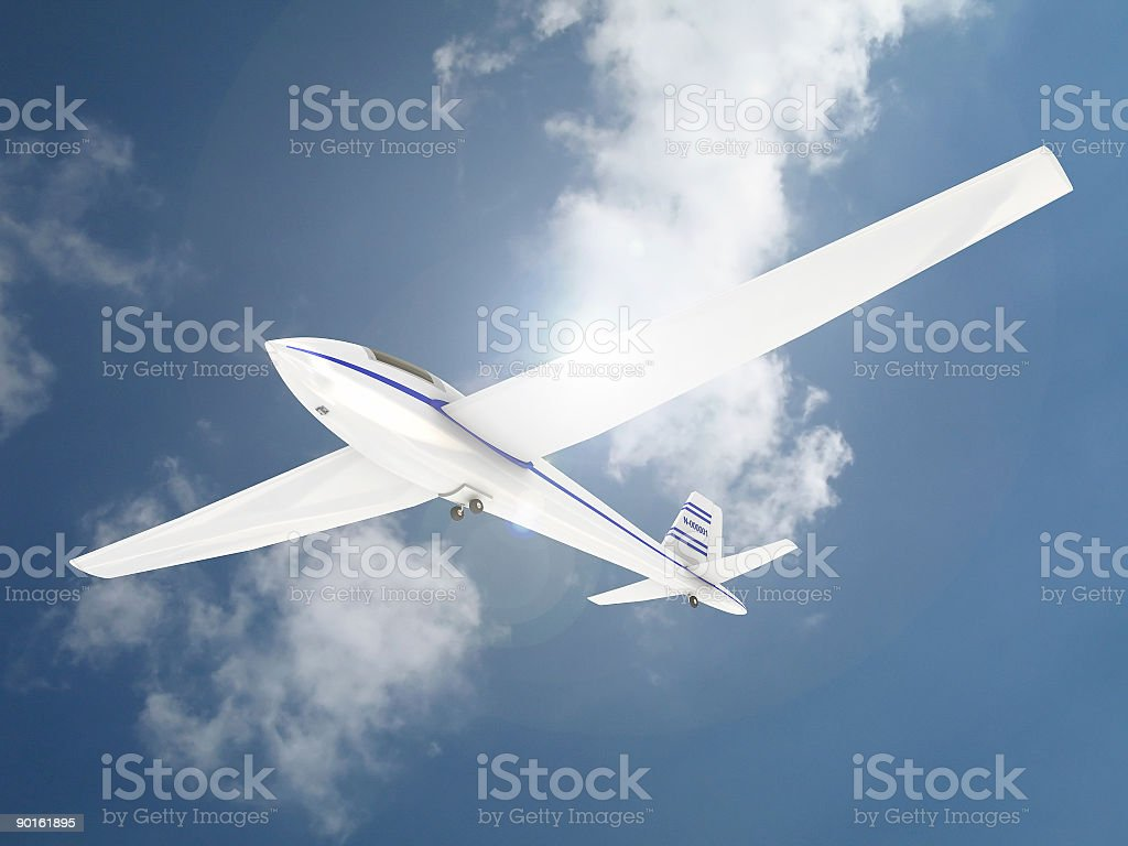 Sky Glider Rendering royalty-free stock photo