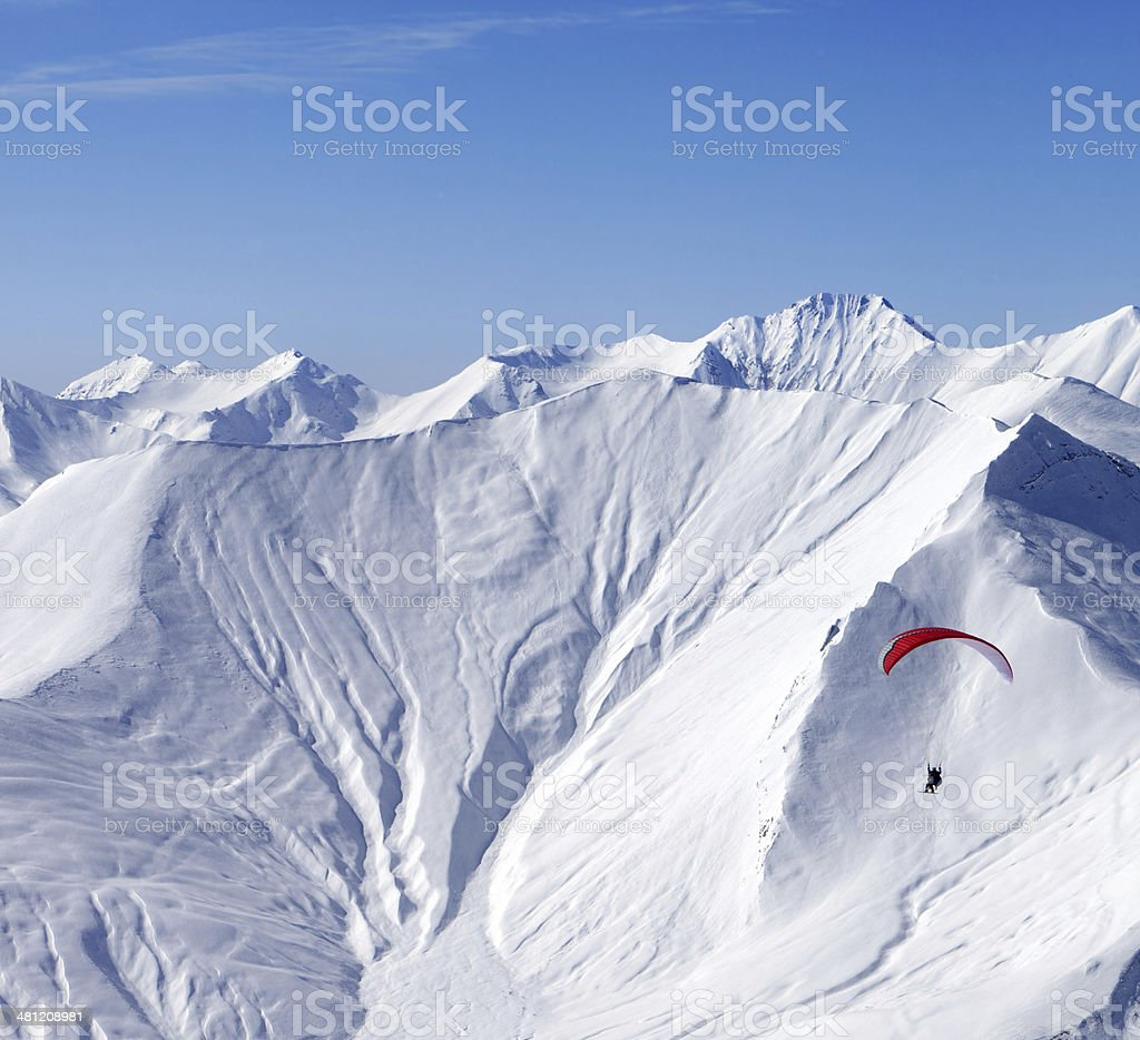 Sky gliding in high mountains royalty-free stock photo