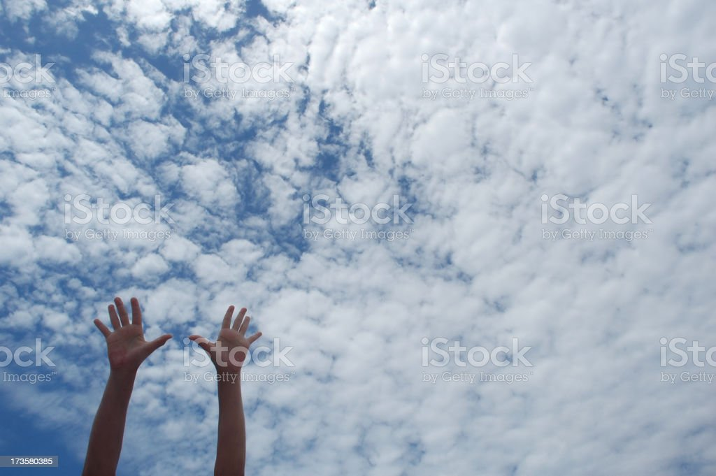 sky hands royalty-free stock photo