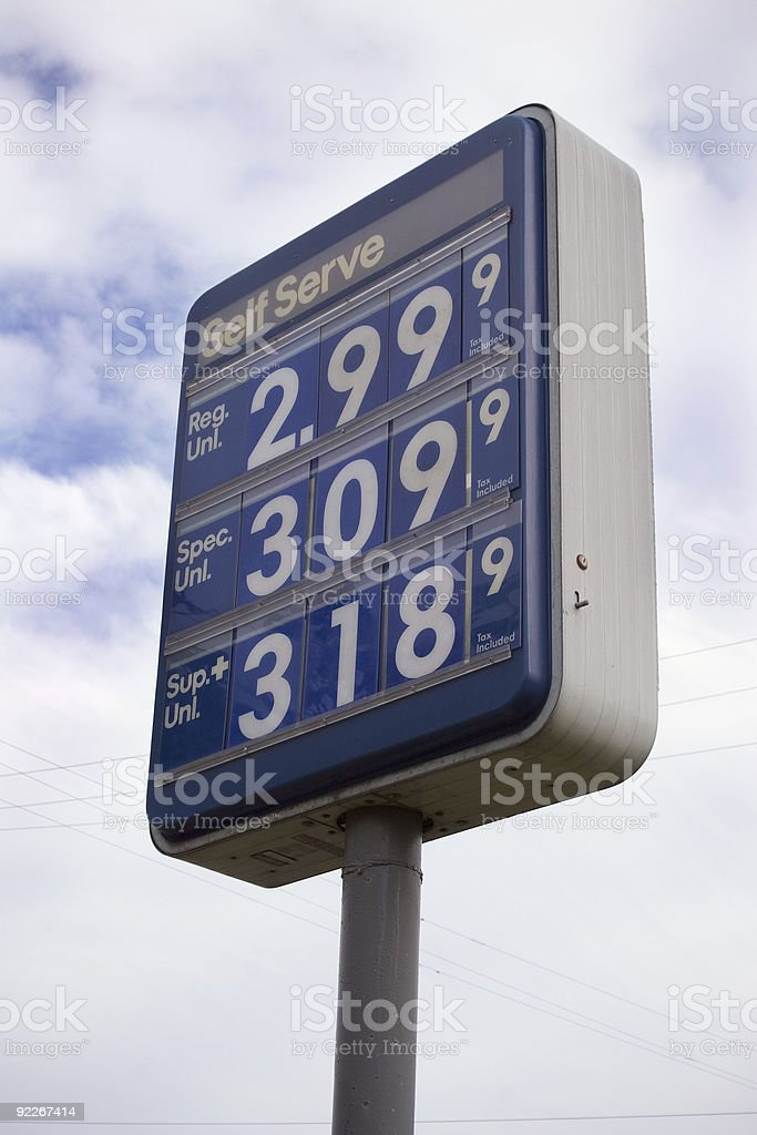 Sky High Prices royalty-free stock photo