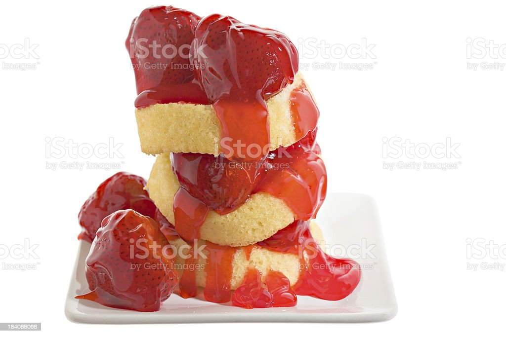 Sky High Strawberry Shortcake stock photo