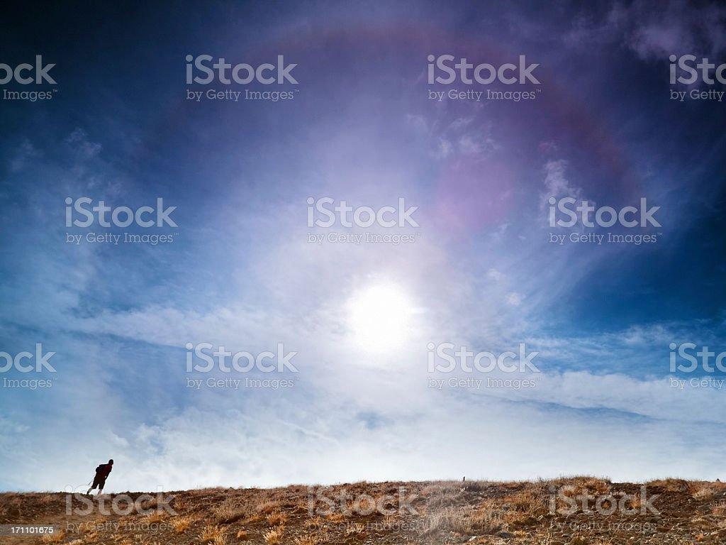 sky hiker landscape royalty-free stock photo