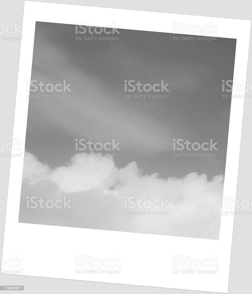 sky in  frame Polaroid royalty-free stock photo