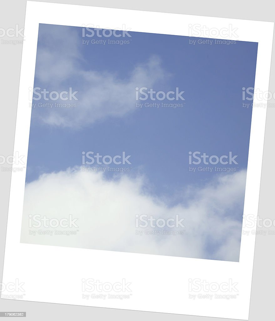 sky in  frame Polaroid royalty-free stock photo