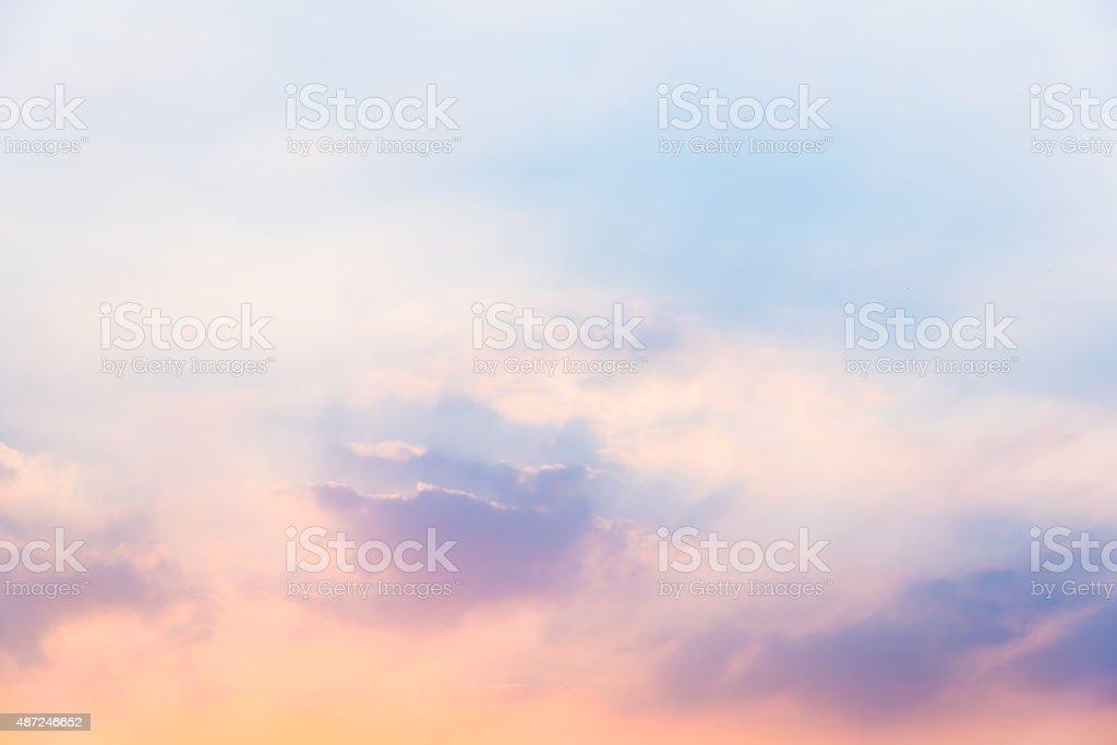 Sky in sunset stock photo