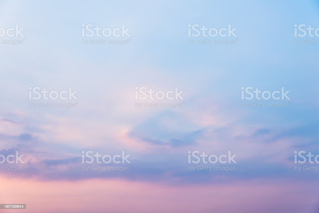 Sky in sunset stock photo