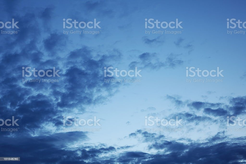 sky in the evening royalty-free stock photo