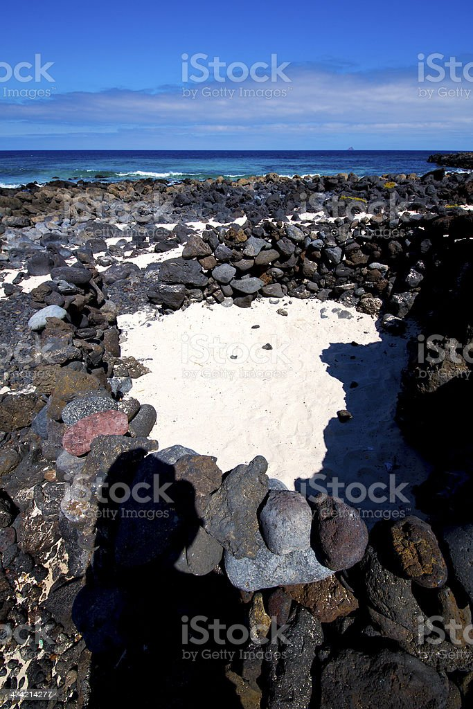 sky   isle foam rock spain landscape    cloud royalty-free stock photo