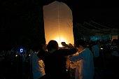 Sky lantern festival(yee peng lanna)in Chaing Mai, Thailand