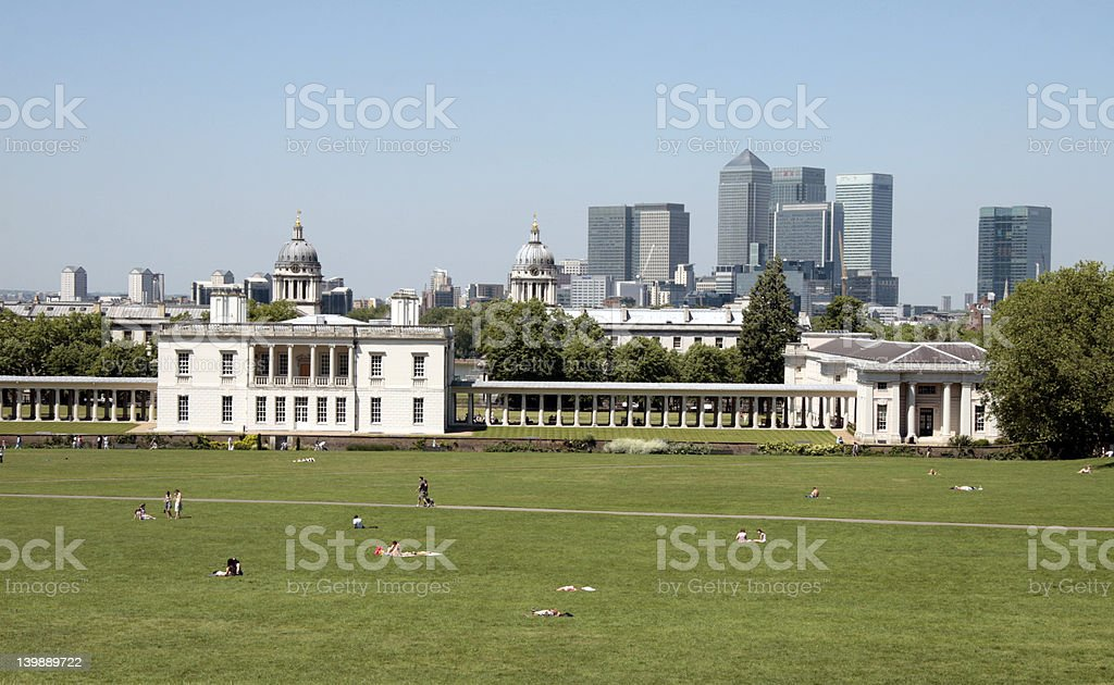 Sky line from Greenwich royalty-free stock photo