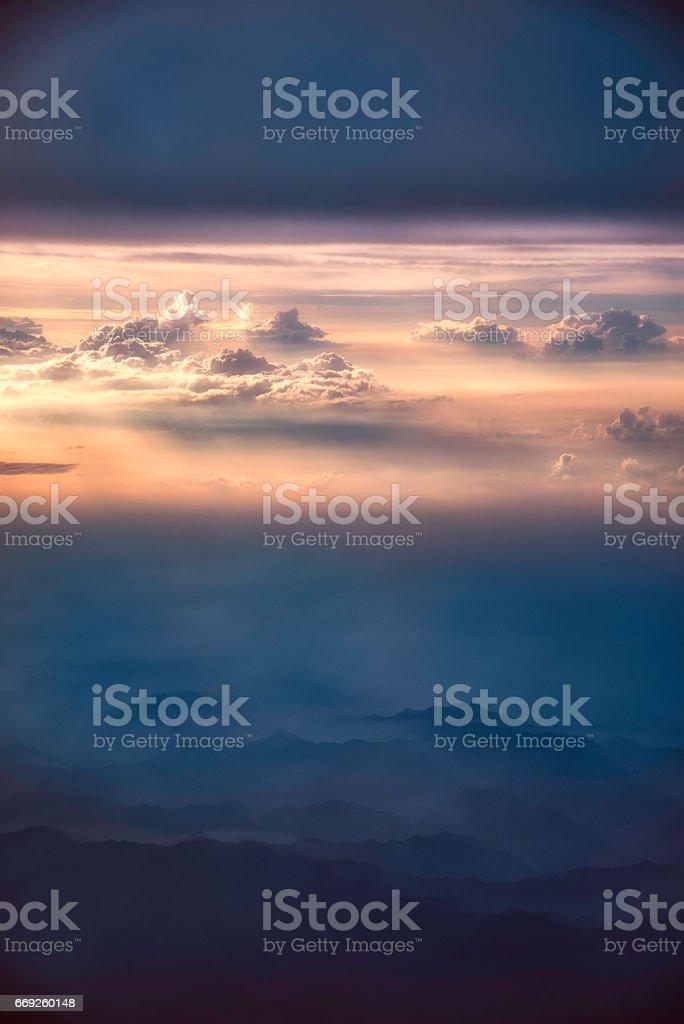 sky & mountain stock photo