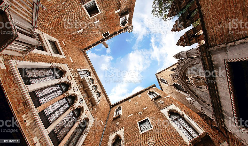 Sky of Venice from the Ca' d'Oro stock photo
