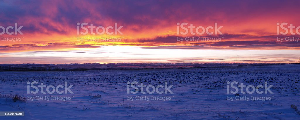 Sky on Fire royalty-free stock photo