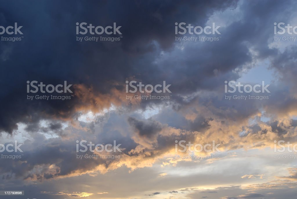 Sky on fire stock photo