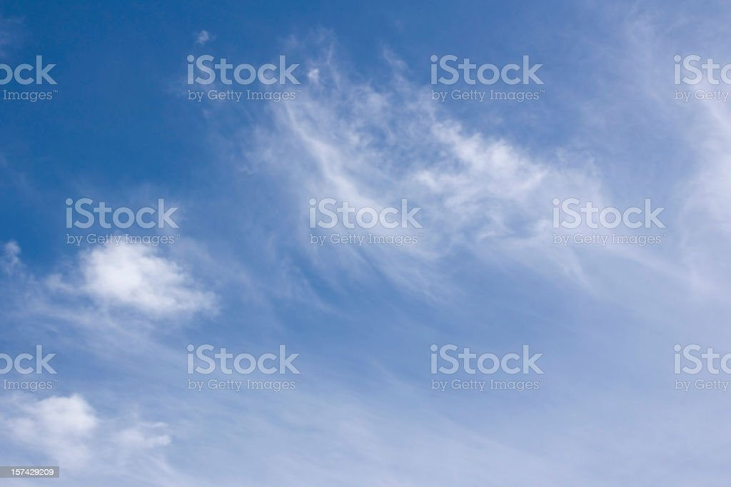 sky only wispy cloud background royalty-free stock photo