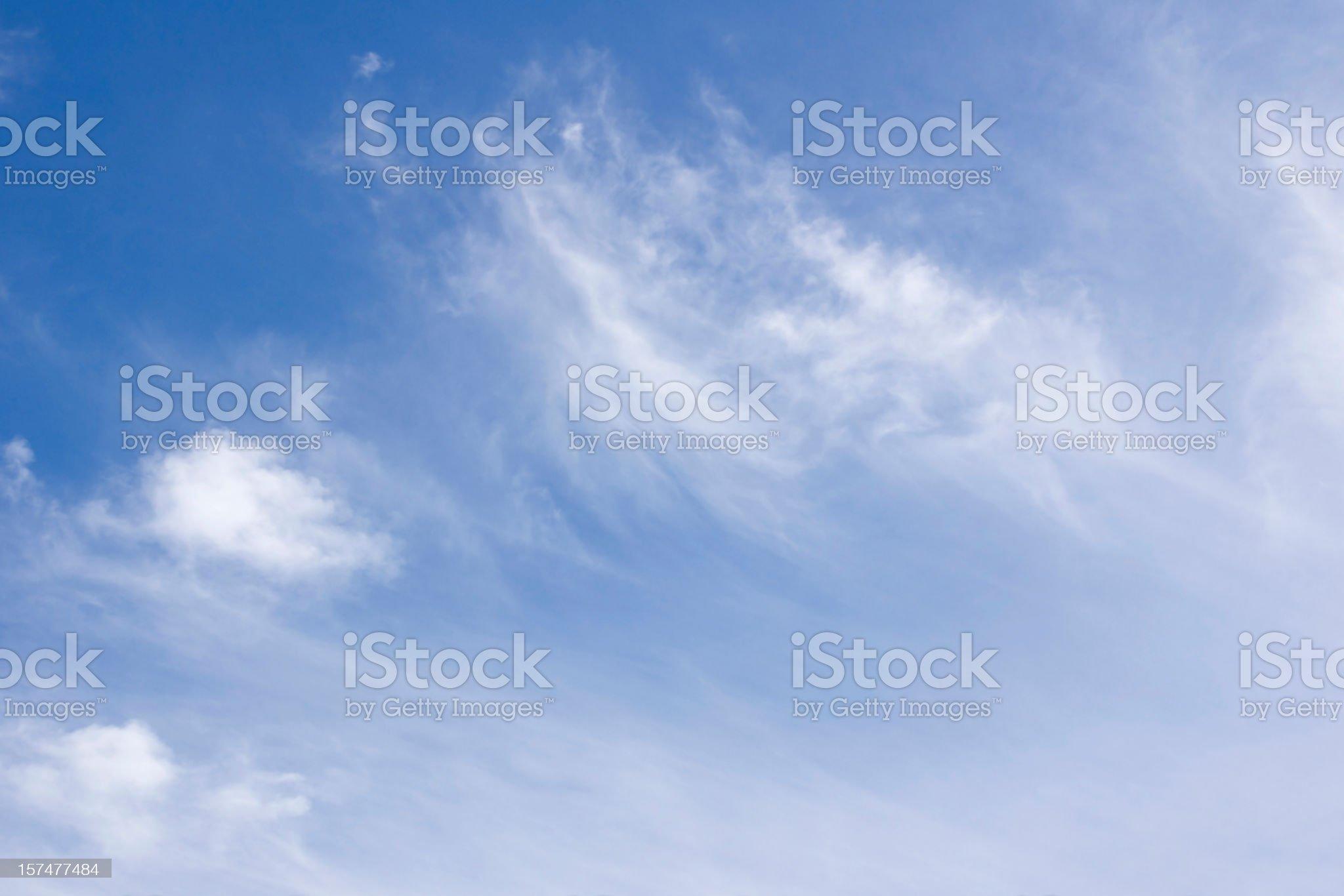 sky only wispy cloudscape background royalty-free stock photo