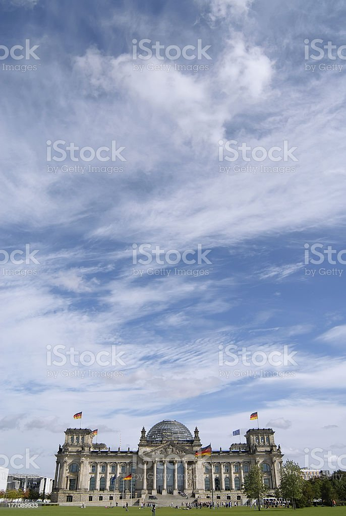 Himmel uber Berlin - Reichstag royalty-free stock photo