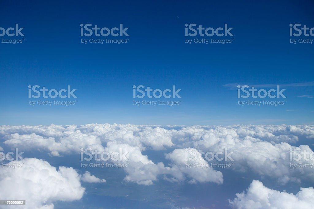 Sky over clouds stock photo