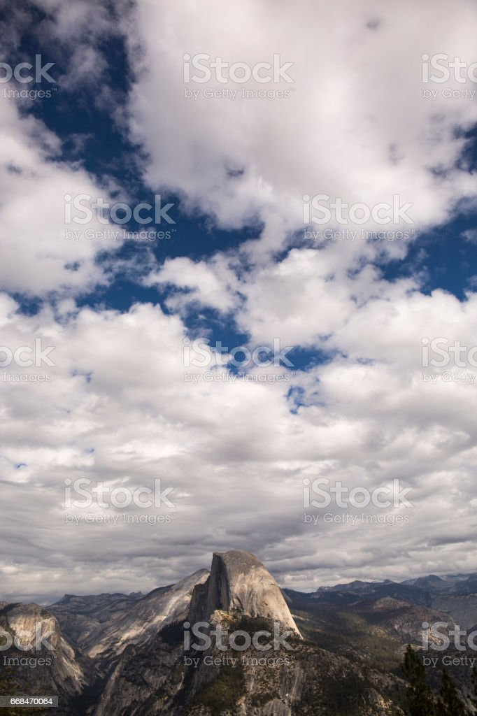 Sky over Half Dome stock photo