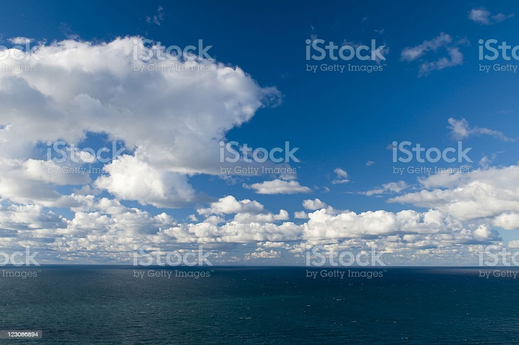 Sky Over Lake Michigan stock photo