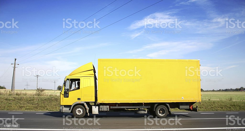 Sky Over Yellow Truck royalty-free stock photo