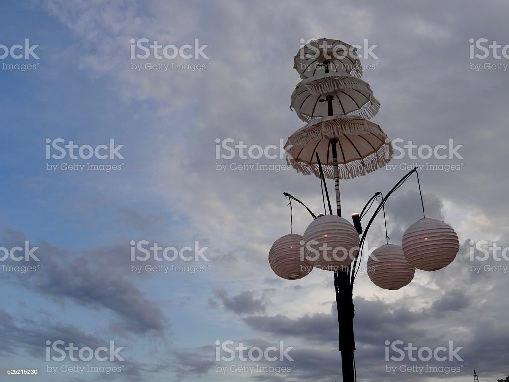 Sky parasol stock photo
