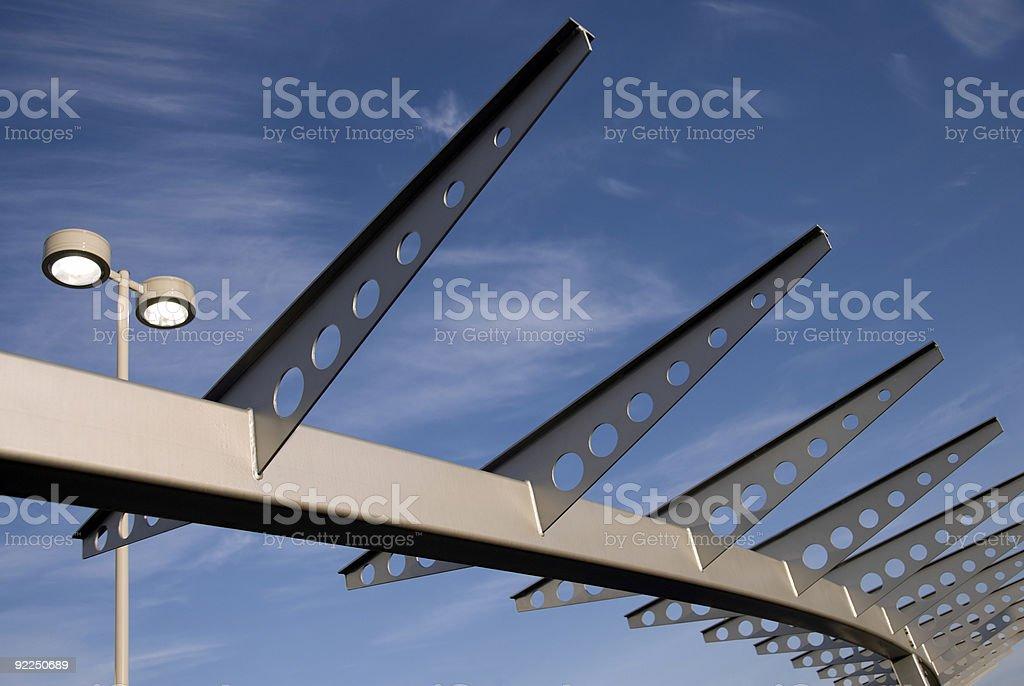 Sky Rails royalty-free stock photo