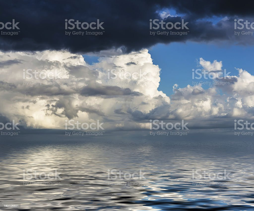 Sky reflected in water. royalty-free stock photo