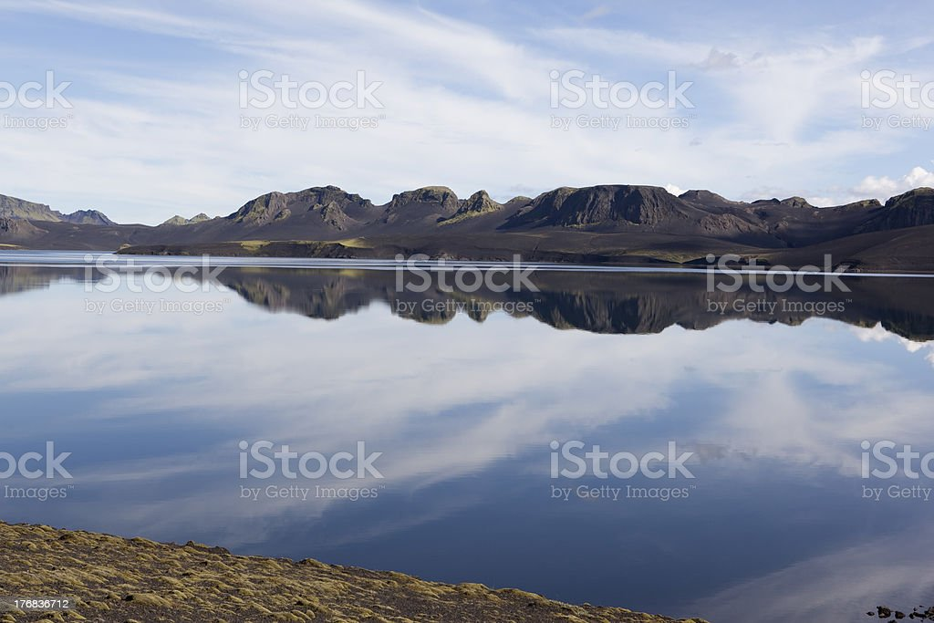 Sky  Reflection in a Lake @ Iceland stock photo
