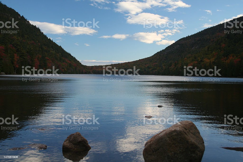 Sky reflection in pond royalty-free stock photo