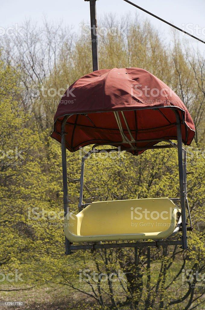Sky ride chair stock photo