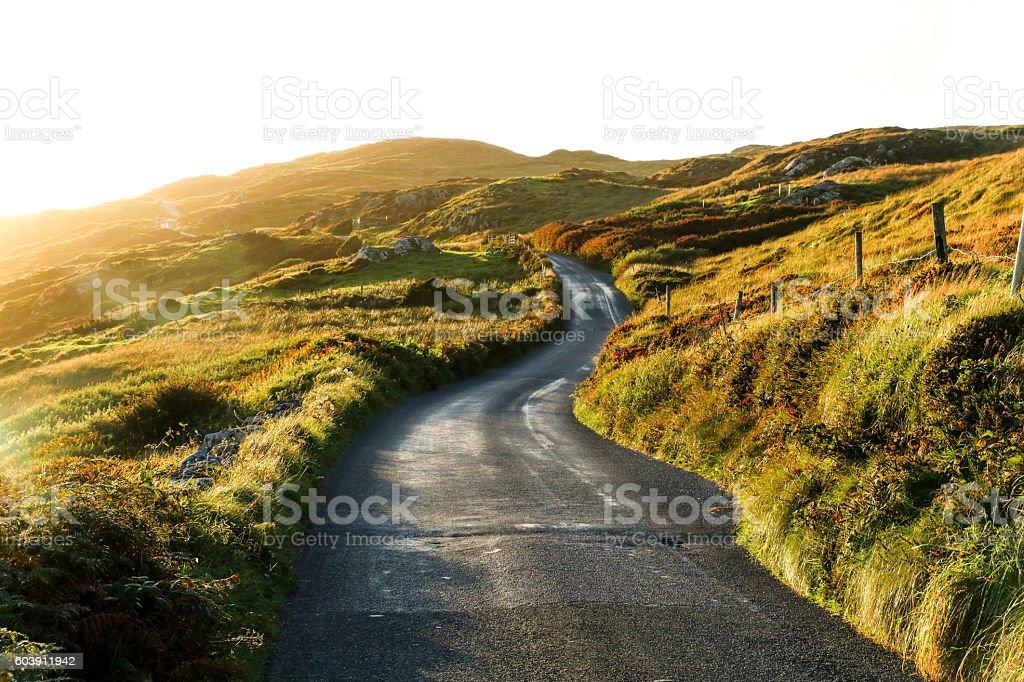Sky Road, Clifden, Ireland stock photo