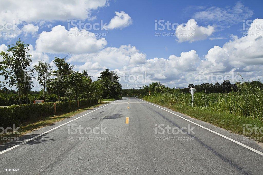 Sky Road. royalty-free stock photo