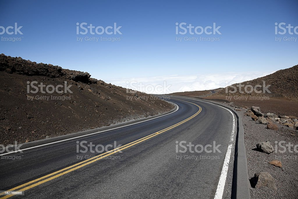 sky road stock photo