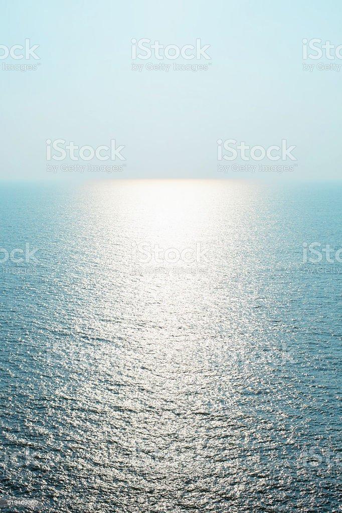 Sky sea and  horizon stock photo