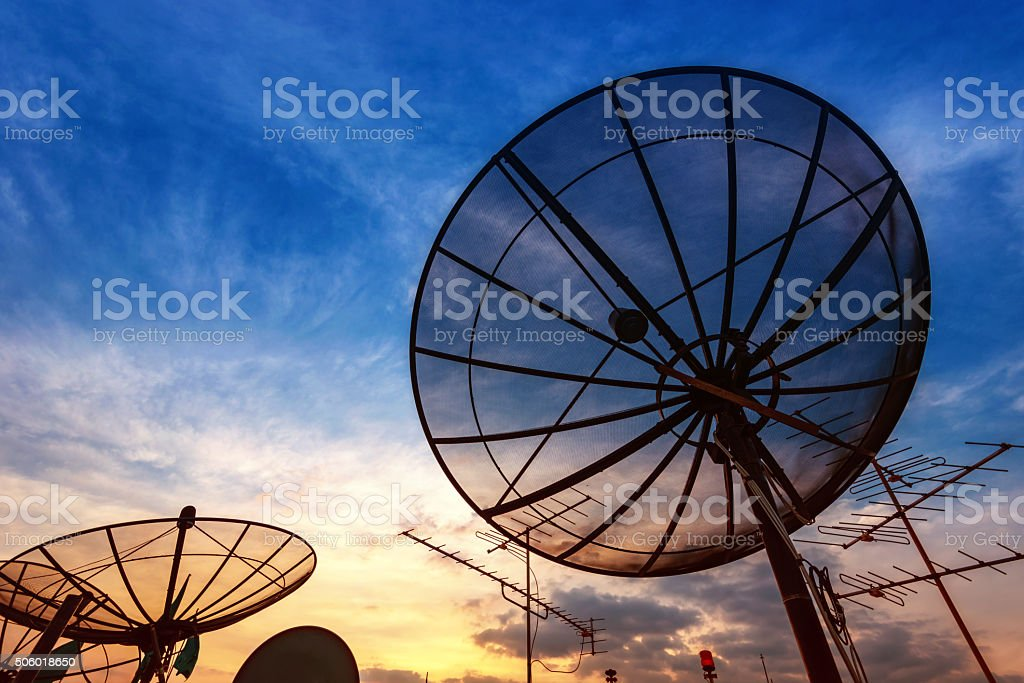 sky signal home stock photo