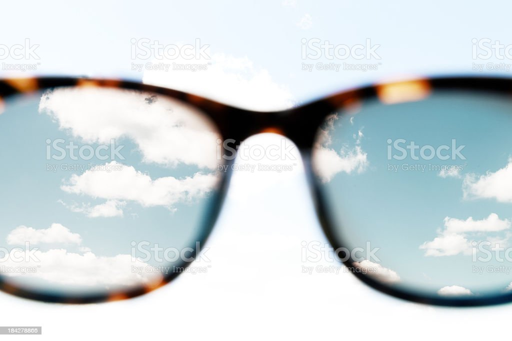 Sky through Sunglasses stock photo