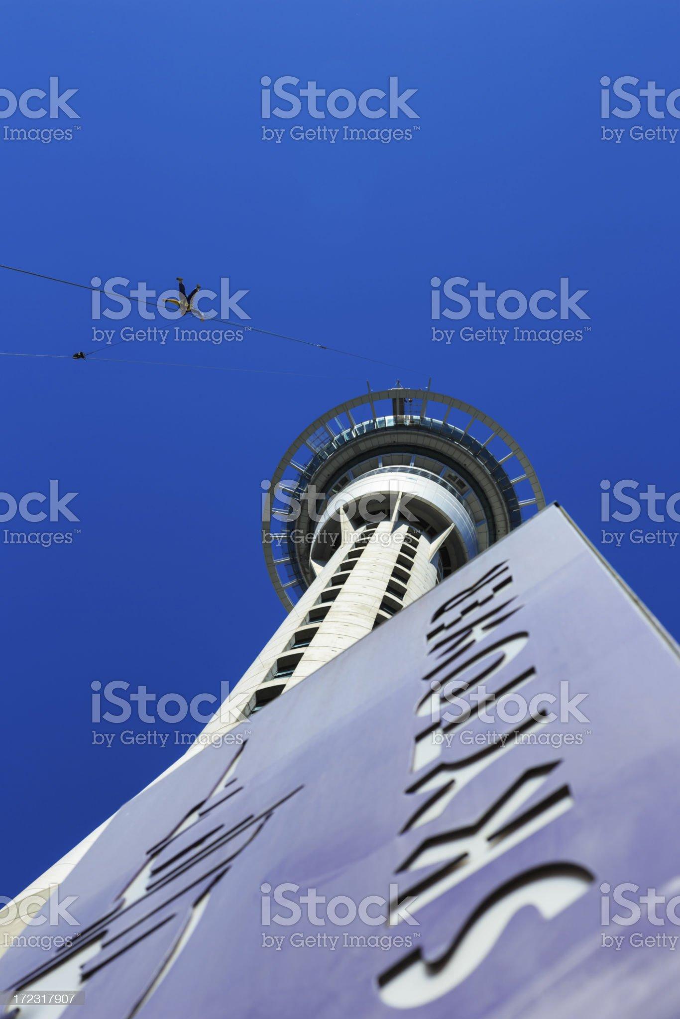 Sky Tower Auckland Sky Jump, New Zealand royalty-free stock photo