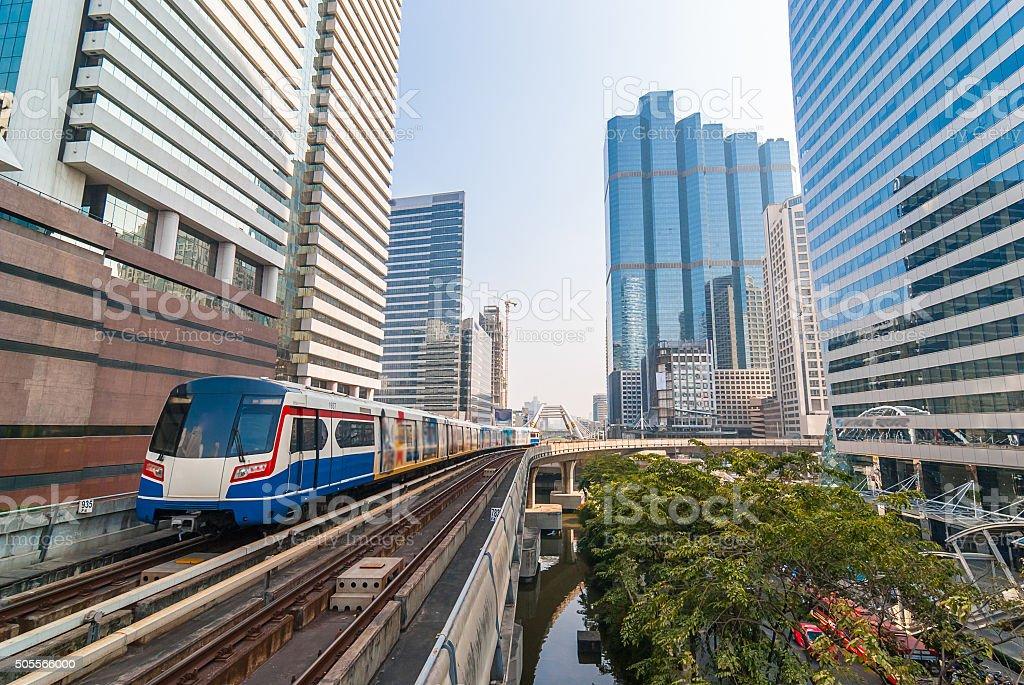 Sky train in capital stock photo