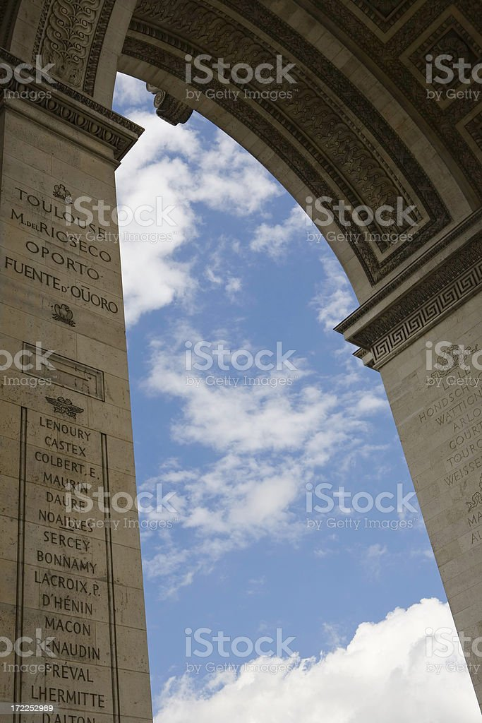 Sky under the Arc royalty-free stock photo