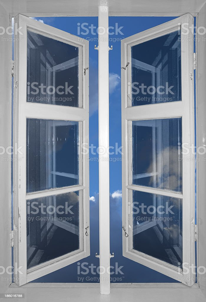 sky viewed through window royalty-free stock photo