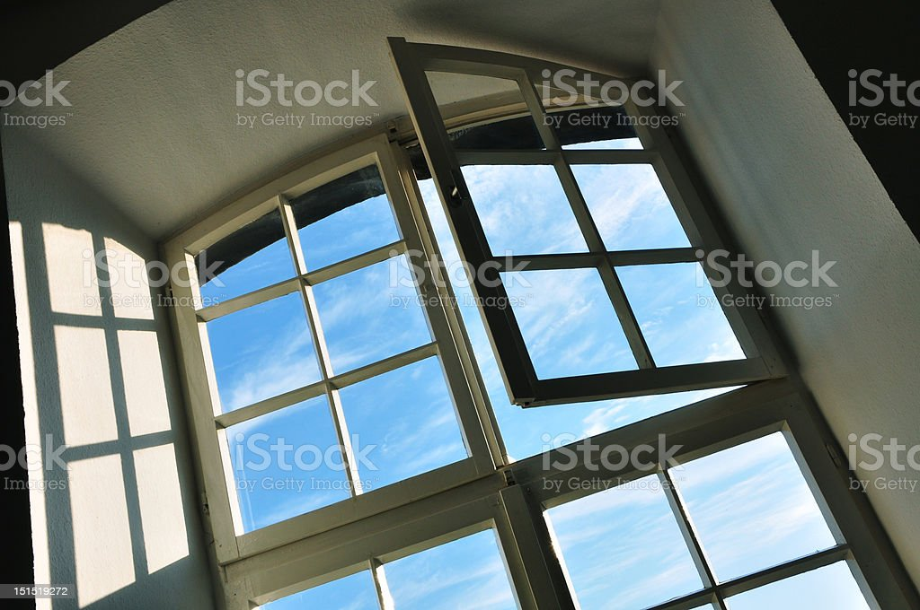 sky window open stock photo