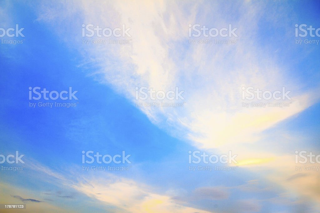 Sky with cloud before sunset royalty-free stock photo