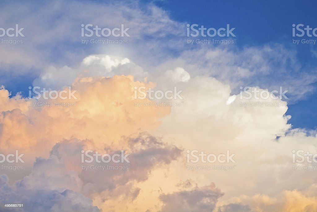 sky with clouds and sunlight royalty-free stock photo