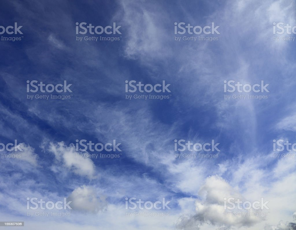 A sky with clouds on a nice spring day royalty-free stock photo