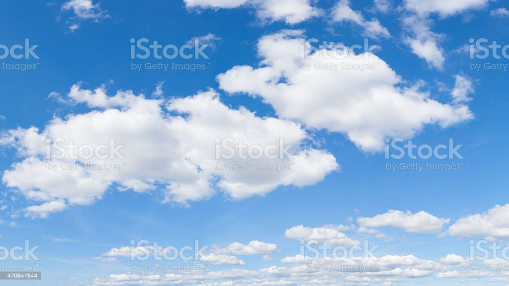 sky with clouds stock photo