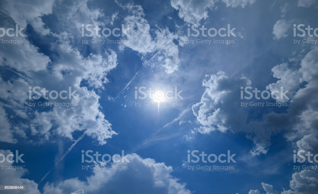 Sky with clouds. stock photo