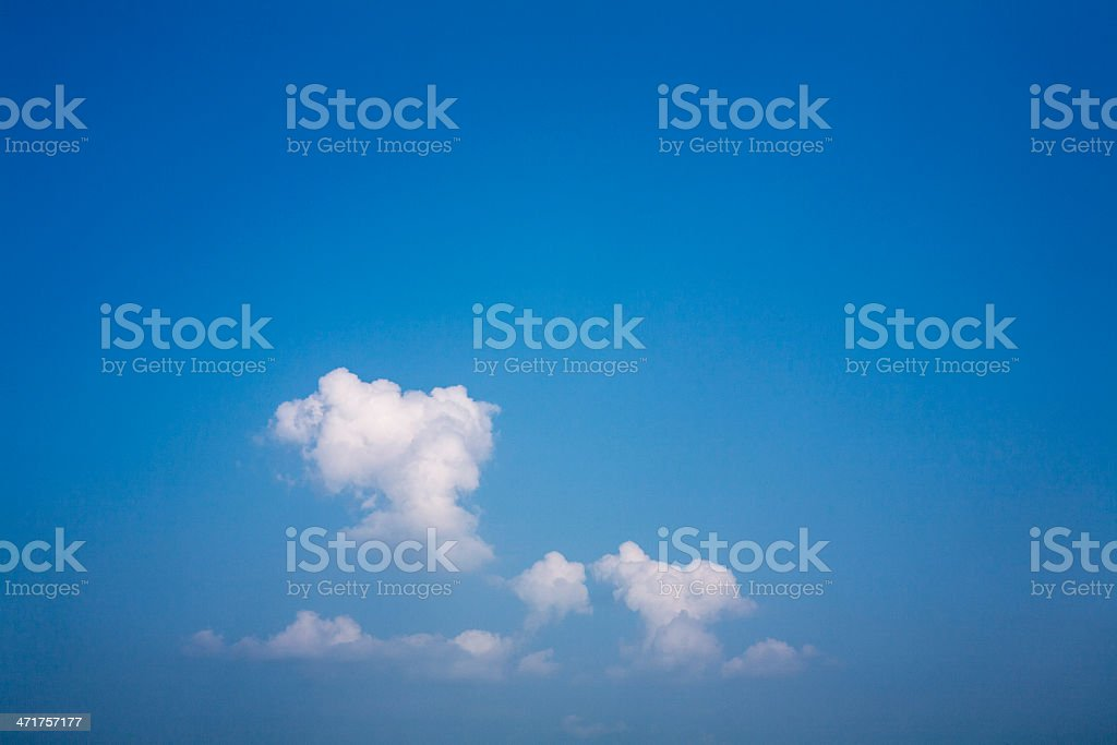 Sky with dramatic white clouds royalty-free stock photo